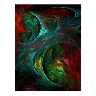 Genesis Nova Abstract Art Postcard