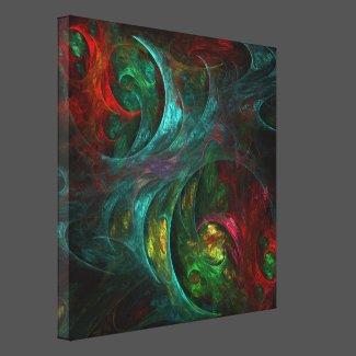 Genesis Nova Abstract Art Wrapped Canvas Print