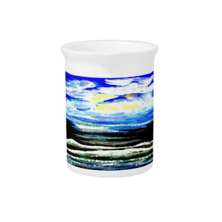 Genesis Ocean Waves Sparkly Seascape Gifts Art Drink Pitchers