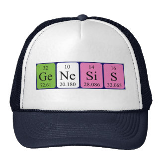 Genesis periodic table name hat