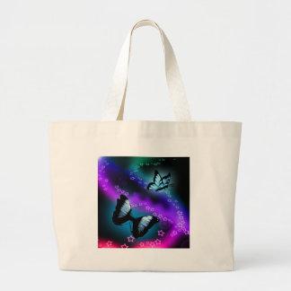 Génesis púrpura de la mariposa bolsas de mano