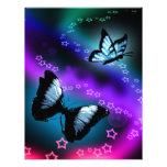 Génesis púrpura de la mariposa membrete