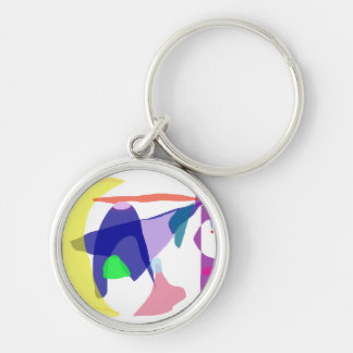 Genesis Silver-Colored Round Keychain