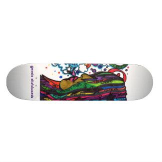 genesis skateboard - Lady of Color