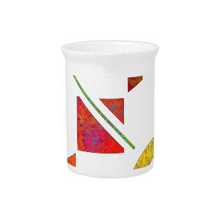 Genessium - birth of maths beverage pitcher