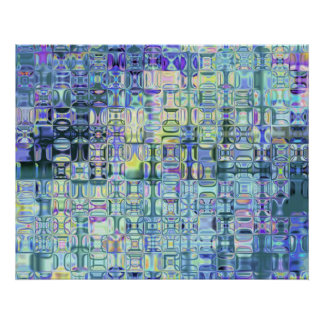 Genetic Art Psychedelic Glass Blocks Hues of Light Poster