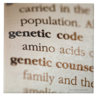 Genetic code and genetic counseling definitions ceramic tile