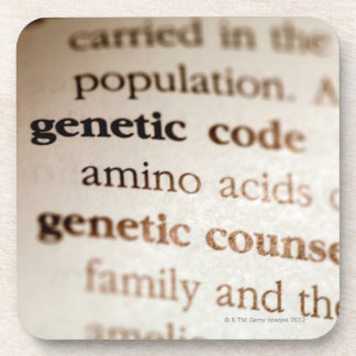 Genetic code and genetic counseling definitions coaster