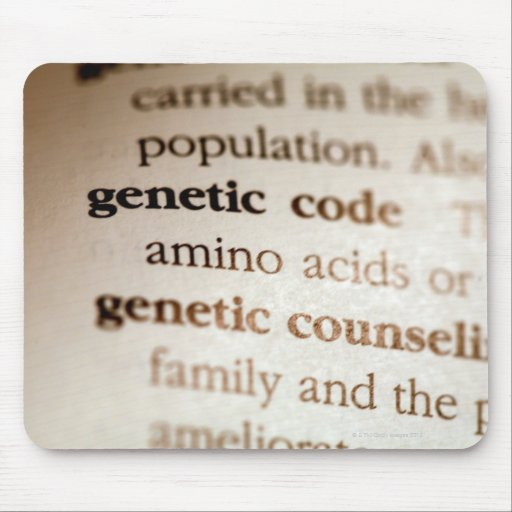Genetic code and genetic counseling definitions mousepads