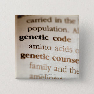 Genetic code and genetic counseling definitions pinback button