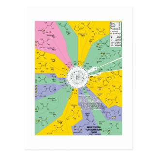 Genetic Code For Amino Acids (Chart Wheel) Postcard