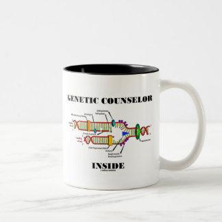Genetic Counselor Inside (DNA Replication) Two-Tone Coffee Mug