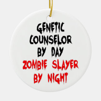 Genetic Counselor Zombie Slayer Double-Sided Ceramic Round Christmas Ornament