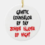 Genetic Counselor Zombie Slayer Christmas Ornaments
