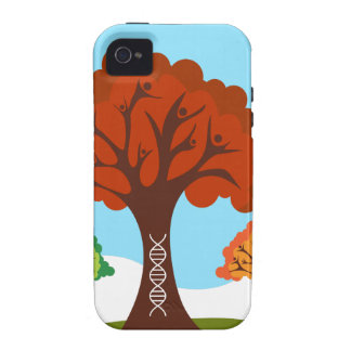 Genetic DNA Family History Tree Roots iPhone 4 Cases