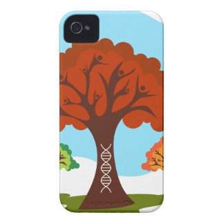 Genetic DNA Family History Tree Roots iPhone 4 Covers