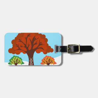 Genetic DNA Family History Tree Roots Tag For Bags