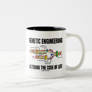 Genetic Engineering Altering The Code Of Life Two-Tone Coffee Mug