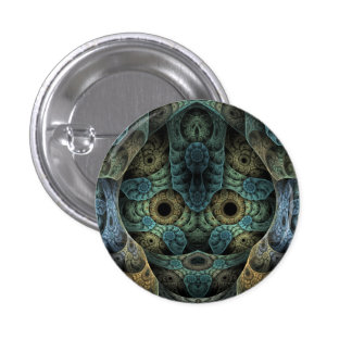 Genetic Memory Psychedelic Face Pinback Button