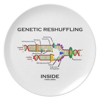 Genetic Reshuffling Inside Biology Geek Humor Dinner Plate