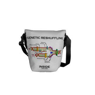Genetic Reshuffling Inside Biology Geek Humor Messenger Bag