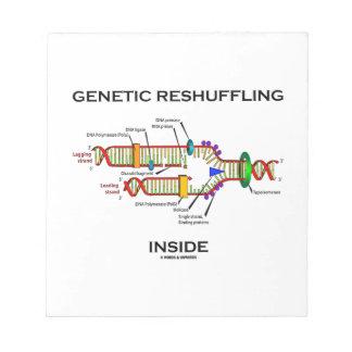 Genetic Reshuffling Inside Biology Geek Humor Notepad