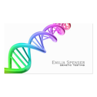 Genetic Testing - Gene Research Simple White Card
