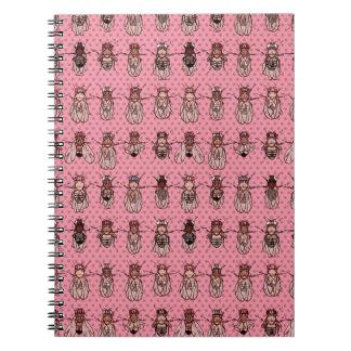 Genética de la mosca del vinagre de la Drosophila Cuaderno