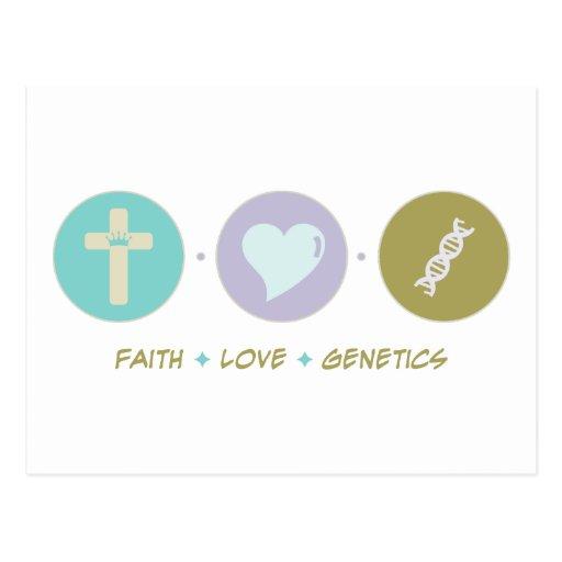 Genética del amor de la fe postal