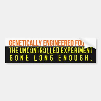 Genetically Engineered Foods bumper sticker Car Bumper Sticker