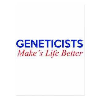 geneticists  design postcard