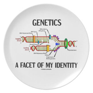 Genetics A Facet Of My Identity (DNA Replication) Melamine Plate