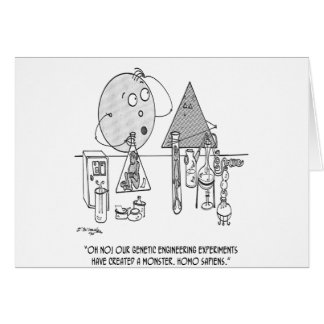 Genetics Cartoon 0313 Card