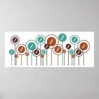 Genetics Daisies Poster
