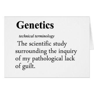 Genetics Definition Card