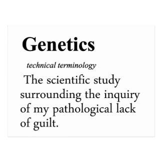 Genetics Definition Postcard