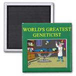genetics joke 2 inch square magnet
