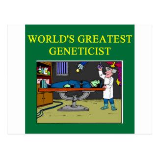 genetics joke postcard