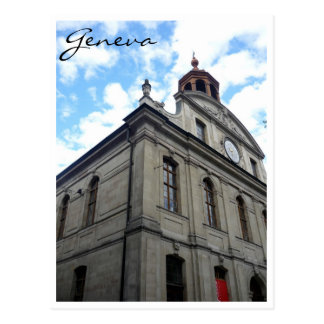geneva architecture postcard