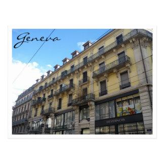 geneva building postcard