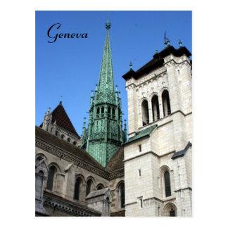 geneva cathedral postcard