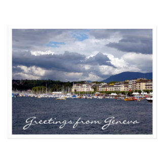 geneva cloud greetings postcard