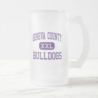 Geneva County - Bulldogs - High - Hartford Alabama 16 Oz Frosted Glass Beer Mug
