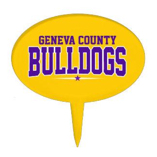 Geneva County High School; Bulldogs Oval Cake Topper