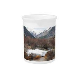 Geneva Creek In The Fall Drink Pitcher