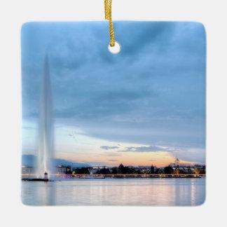 Geneva fountain, Switzerland Ceramic Ornament