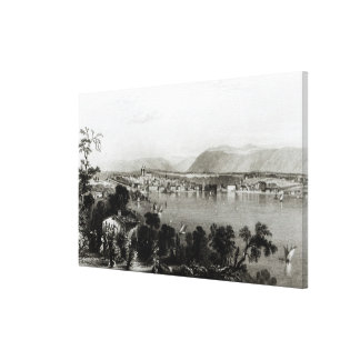 Geneva from Coligny, engraved by Robert Wallis Canvas Print