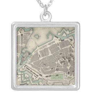 Geneva Geneva Square Pendant Necklace