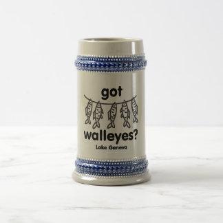 geneva got walleye beer stein