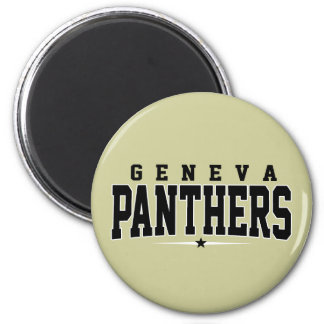 Geneva High School; Panthers 2 Inch Round Magnet